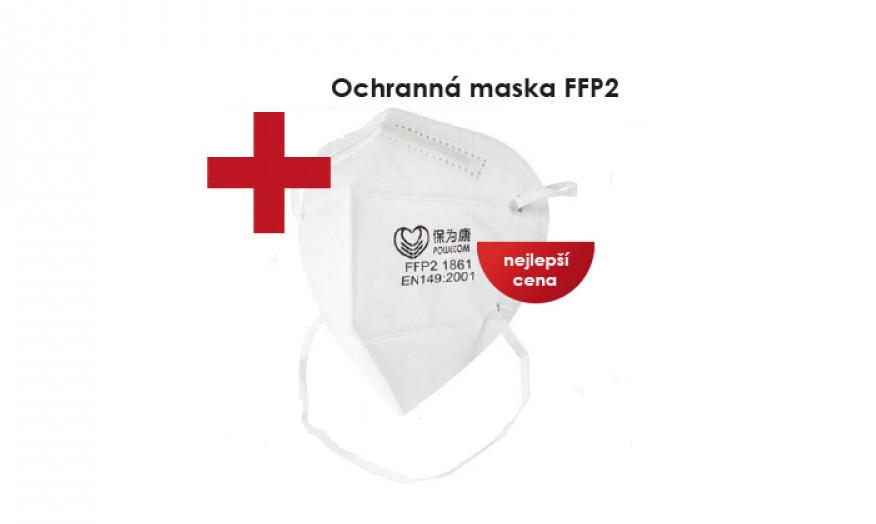 Respirační obličejová maska - Reklama v Praze - propagační banner Praha na Dlani